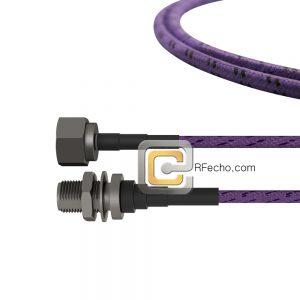 N Male to N Female Bulkhead LL142 Coax and RoHS F038-291S0-290S1-180-C