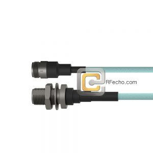 N Female to N Female Bulkhead LL335i Coax and RoHSF040-290S0-290S1-180-N