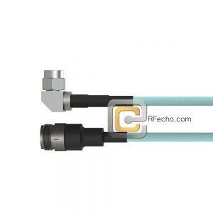 N Female to Right Angle SMA Male LL335i Coax and RoHSF040-290S0-321R0-180-N
