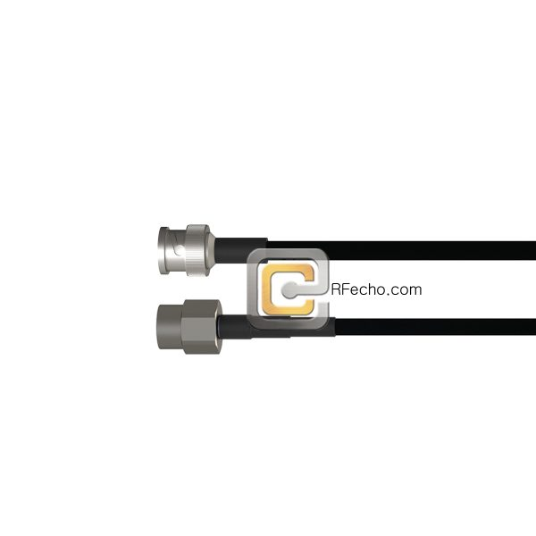 BNC Male to 7-16 DIN Male LMR-240 Coax and RoHS F047-221S0-201S0-40-N