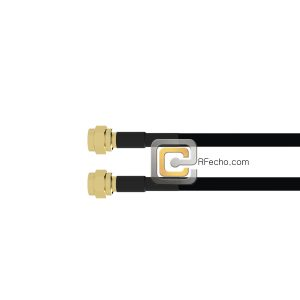 Reverse Polarity SMA Male to Reverse Polarity SMA Male LMR-240 Coax and RoHS F047-481S0-481S0-58-N