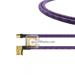 Mini SMP Female to Right Angle SMP Female OM-086 Coax and RoHS F018-280S0-350R0-265-C