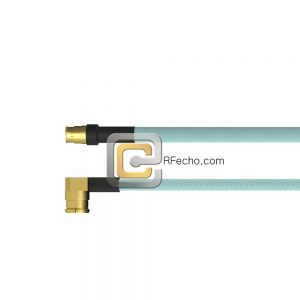 Mini SMP Female to Right Angle SMP Female OM-086 Coax and RoHS F018-280S0-350R0-265-N