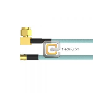 Right Angle SMA Male to SMP Female OM-086 Coax and RoHS F018-321R0-350S0-265-N