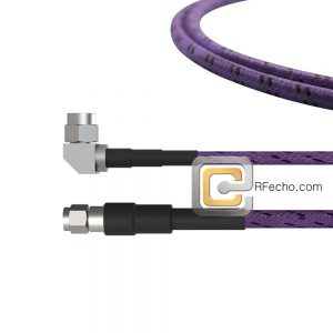 Right Angle SMA Male to SMA Male OM-141 Coax and RoHS F020-321R0-321S0-265-C
