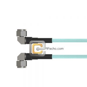 Right Angle N Male to Right Angle N Male OM-141FLEX Coax and RoHS F036-291R0-291R0-180-N