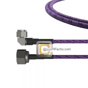 N Male to Right Angle N Male OM-141FLEX Coax and RoHS F036-291S0-291R0-180-C