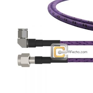 Right Angle TNC Male to TNC Male OM-141FLEX Coax and RoHS F036-411R0-411S0-110-C