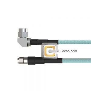Right Angle SMA Male to SMA Male OM-160FLEX Coax and RoHS F016-321R0-321S0-265-N