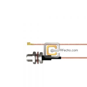 N Female Bulkhead to UMCX 2.5 Plug RG178 Coax and RoHS F074-290S1-451S0-30-N