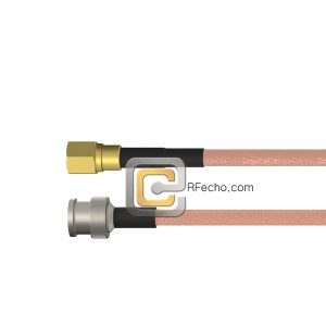 BNC Male to SMC Plug RG-316 Coax and RoHS F065-221S0-341S0-30-N