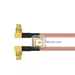 Right Angle MCX Plug to Right Angle MMCX Plug RG-316 Coax and RoHS F065-251R0-271R0-30-N