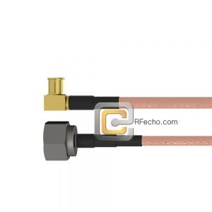 Right Angle MCX Plug to N Male RG-316 Coax and RoHS F065-251R0-291S0-30-N