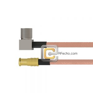 MCX Plug to Right Angle 10-32 Male RG-316 Coax and RoHS F065-251S0-121R0-20-N