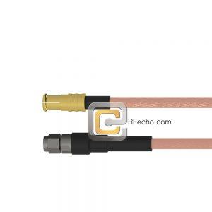MCX Plug to SMA Male RG-316 Coax and RoHS F065-251S0-321S0-30-N