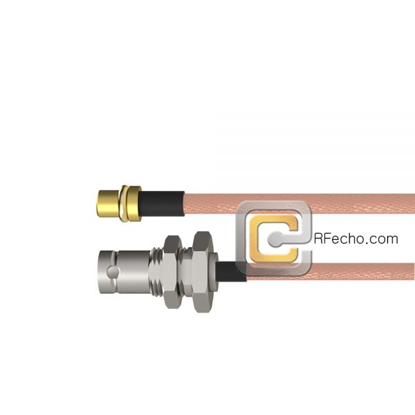 BNC  plug to  BNC  plug coax Cable  MIL-RG-142     30  FT male to male
