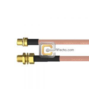 MMCX Plug to SMA Female Bulkhead RG-316 Coax and RoHS F065-271S0-320S1-30-N