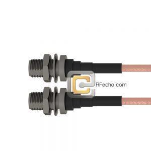 N Female Bulkhead to N Female Bulkhead RG-316 Coax and RoHS F065-290S1-290S1-30-N