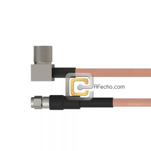 SMA Male to Right Angle 10-32 Male RG-316 Coax and RoHS F065-321S0-121R0-20-N