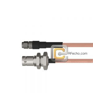 SMA Male to BNC Female Bulkhead RG-316 Coax and RoHS F065-321S0-220S1-30-N