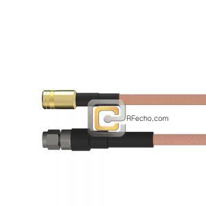 SMA Male to SMB Plug RG-316 Coax and RoHS F065-321S0-331S0-30-N