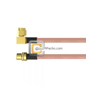 Right Angle SMC Plug to MMCX Plug RG-316 Coax and RoHS F065-341R0-271S0-30-N