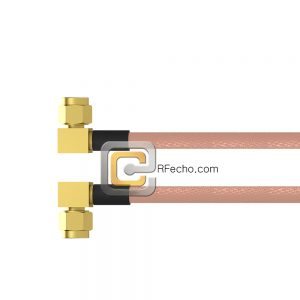 Right Angle SMC Plug to Right Angle SMC Plug RG-316 Coax and RoHS F065-341R0-341R0-30-N