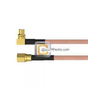 SMC Plug to Right Angle MMCX Plug RG-316 Coax and RoHS F065-341S0-271R0-30-N