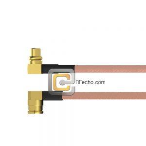 Right Angle SMP Female to Right Angle MMCX Plug RG-316 Coax and RoHS F065-350R0-271R0-30-N