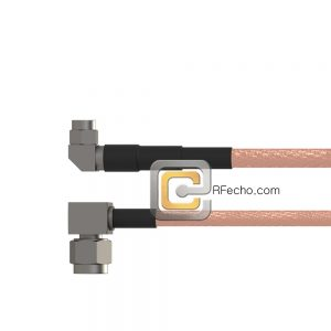 Right Angle SSMA Male to Right Angle SMA Male RG-316 Coax and RoHS F065-361R0-321R0-30-N