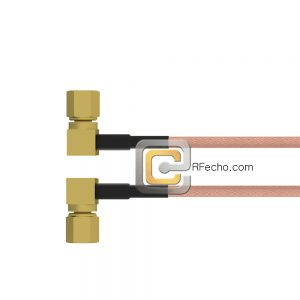 Right Angle SSMC Plug to Right Angle SSMC Plug RG-316 Coax and RoHS F065-381R0-381R0-30-N