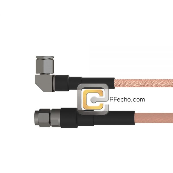 Right Angle TNC Male to SMA Male RG-316 Coax and RoHS F065-411R0-321S0-30-N