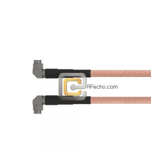Right Angle SMA Male to Right Angle SMA Male RG-58 Coax and RoHS F070-321R0-321R0-50-N